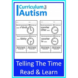 Telling The Time Read, Color & Learn Visual Worksheets