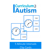 Telling Time 5 Minute Intervals Clip Cards