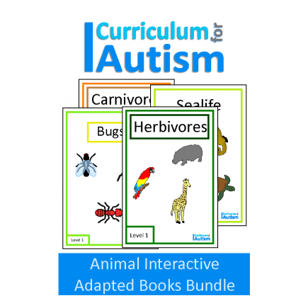 Animal Interactive Adapted Books Bundle