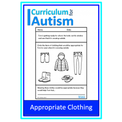 Appropriate Clothing Life Skills Worksheets