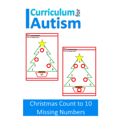 Christmas Count to 10 Missing Numbers