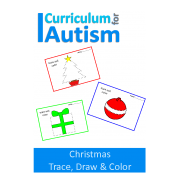 Christmas Trace, Draw & Color Fine Motor Skills