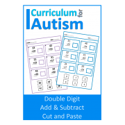 Double Digit addition & Subtraction Cut and Paste Worksheets