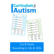 Rounding to the Nearest 10, 100, Cut and Paste Worksheets