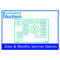 Days & Months Spinner Games for Calendar Skills