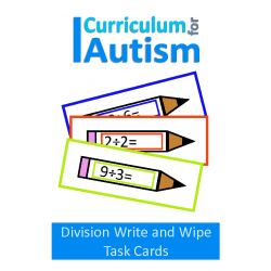 Division Facts Write and Wipe Task Cards