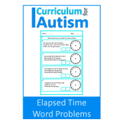 Life Skill, Elapsed Time Word Problems worksheets