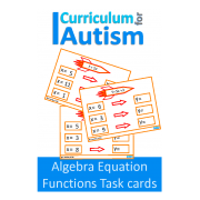 Algebra Equations, Functions, Input Output Machines Task Cards