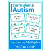 Factors & Multiples Yes/No cards