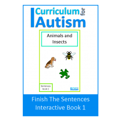 Finish The Sentences Interactive Book- Animals & Insects