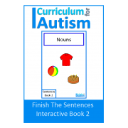 Finish The Sentences Interactive Book- Nouns