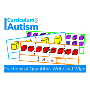 Fractions of Numbers Write & Wipe Task Cards