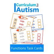 Functions, Input Output Machines Write and Wipe Task Cards