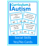 Social Skills Behavior Yes No Cards