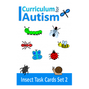 Insects Count, Sequence, Add, Subtract, Large Write and Wipe Set 2