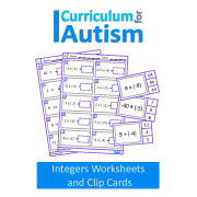Integers Equations Worksheets & Clip Cards