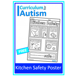 Kitchen Safety FREE Color & Learn Poster