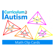 Addition, Subtraction, Multiplication, Division Clip Cards