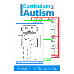 Robot Write and Wipe Fine Motor Skills Pre-Writing