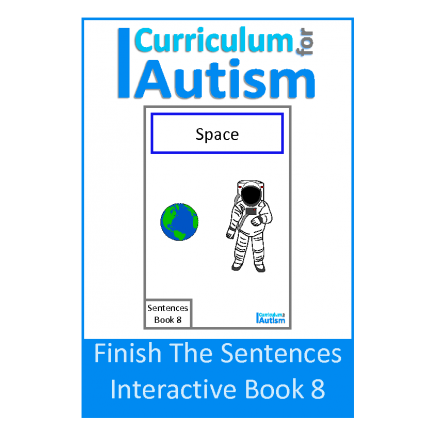 Finish the Sentences Interactive Book- Space