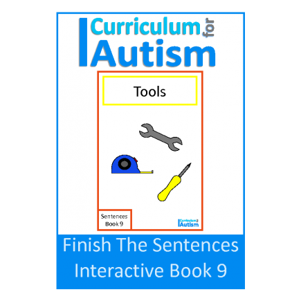 Finish The Sentences Interactive Book- Tools
