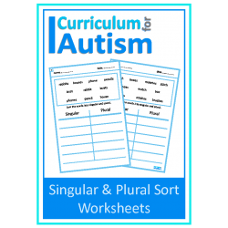 Singular or Plural Sort Worksheets