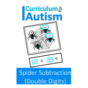 Spider Subtraction Double Digits Task Cards