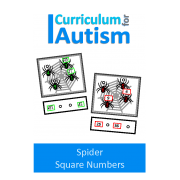 Spiders Square Numbers Task Cards