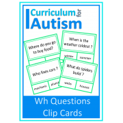 Wh Questions Clip Cards