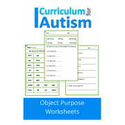Object Functions & Uses No Prep Worksheets