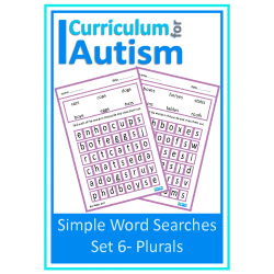 Plurals, Simple Word Search Puzzles Set 6