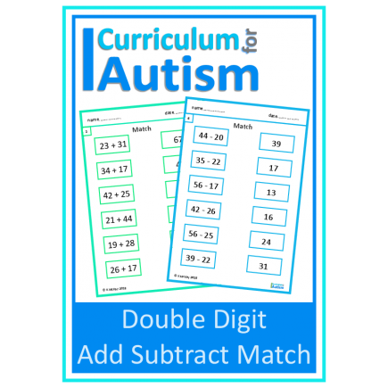 Double Digit Addition Subtraction Match