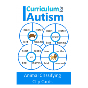 Animal Classifying Clip Cards