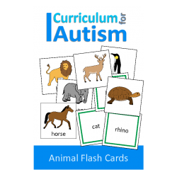 Animal Flash Cards to Name, Sort, Match, Speech Therapy & Autism