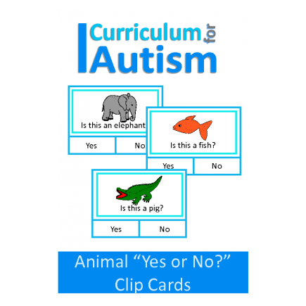 Animal Yes or No Clip Cards