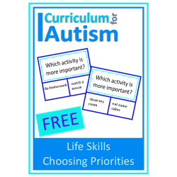 Choosing Priorities Life Skills Cards