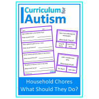 Household Chores Life Skills Scenarios worksheets & clip cards