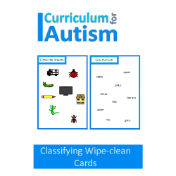 Classifying Skills Write and Wipe Cards