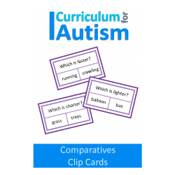 "Comparative Adjectives Clip Cards, ""Which Is....?"""