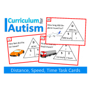 Distance, Speed, Time Task Cards, Science, Math