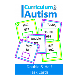 Double & Half Math Write and Wipe Task Cards