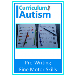 Fine Motor Skills Task Cards for Pre Writing Skills, Autism, Special Needs