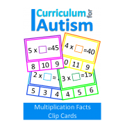Multiplication Facts Missing Number Clip Cards