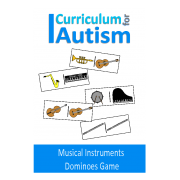Musical Instruments Dominoes Game, Turn Taking Skills