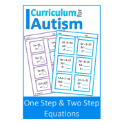 One Step & Two Step Equations Worksheets, with Scaffolding