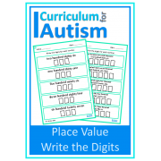 Place Value Write the Digits Worksheets