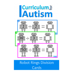 Division Robot Write and Wipe Task Cards
