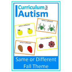 Same or Different Flash Cards, Fall Theme