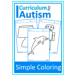 Simple Coloring Pictures Fine Motor Skills Sheets