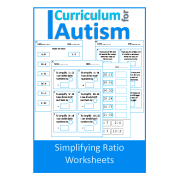 Simplifying Ratio Worksheets